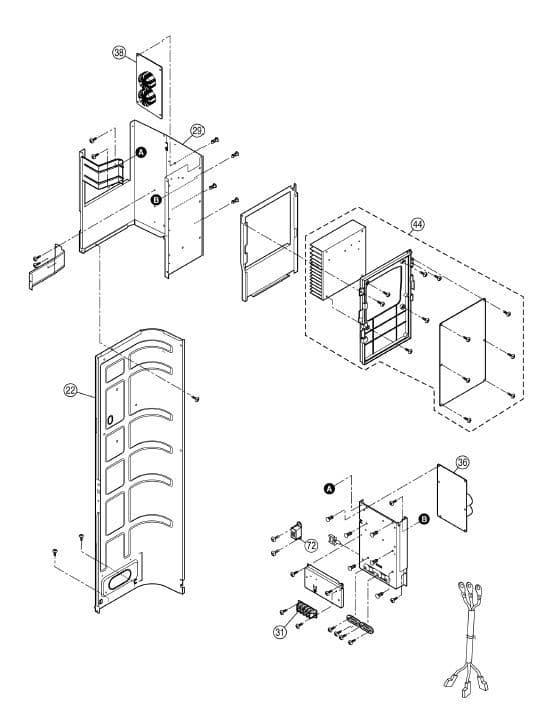 Panasonic Air Conditioning Spare Part CWA73C5729R Main PCB